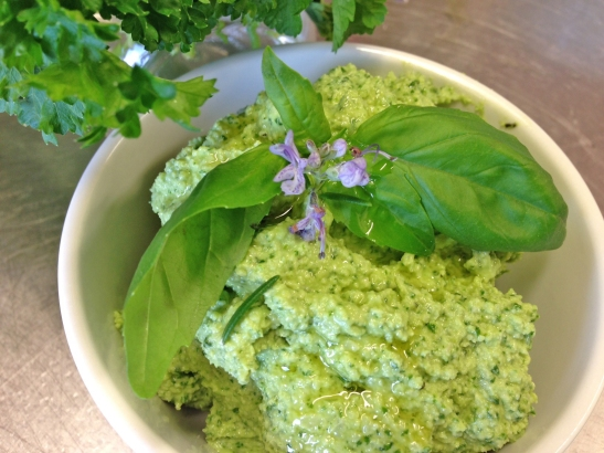 Basil and Macadamia Nut Pesto