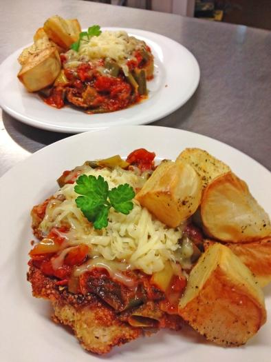 gluten free low fodmap Chicken Parma