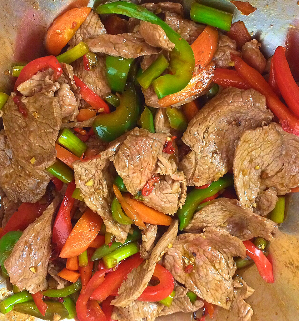 Organic Lean Beef Stir Fry With Bell Peppers For The Low