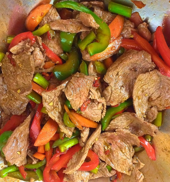 Organic lean beef stir fry