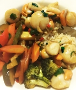 Stir fry ginger chilli Scallops